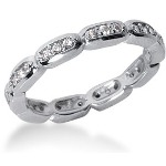 Eternity-ring i palladium med runde, brilliantslipte diamanter (ca 0.3ct)